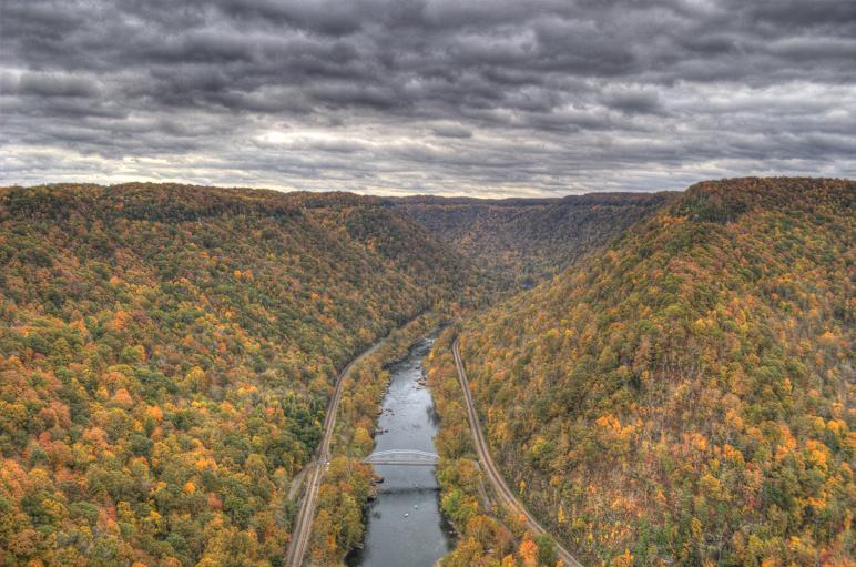 The New River Gorge - Photo -HDR - Ed Goody