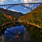 New River Gorge Bridge & raft